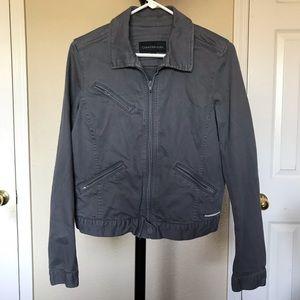 Calvin Klein gray jean jacket for women.